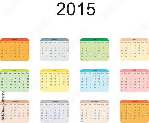 calendrier fran ais 2015 avec jours f ri s fran ais. Black Bedroom Furniture Sets. Home Design Ideas