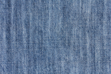Closeup of blue jeans texture as a background
