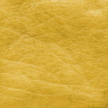 yellow leather texture closeup