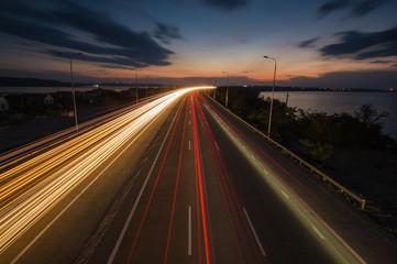 Night traffic lights