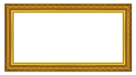 The old gold wooden frame