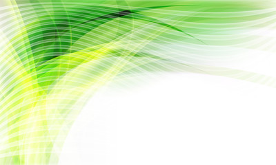 green vector background into corner and transparent lines