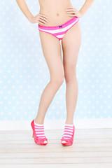 Retro style panties and legs