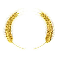 Golden wheat circle