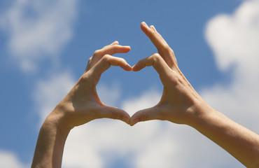 Heart shape hands