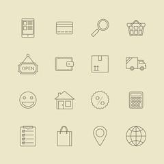Navigation buttons for online internet store