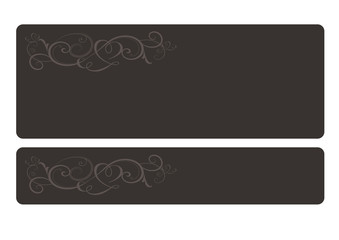 Decorative Set, menu card, blackboard,signboard,vector