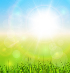 Natural sunny background