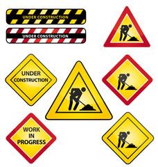 Under construcion. Work in progress. Icons set.