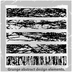 Grunge abstract design elements. Vector illustration.