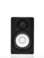 Speaker over white