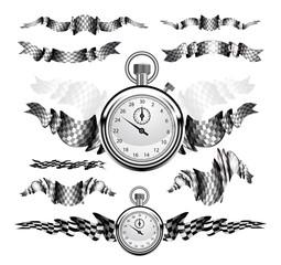 Checkered Flags set illustration