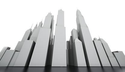 Black and white city concept