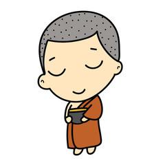 cute Buddhist Monk