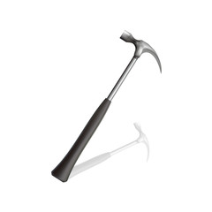 Acute strong axe with black leather handle
