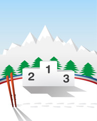 Winter games podium
