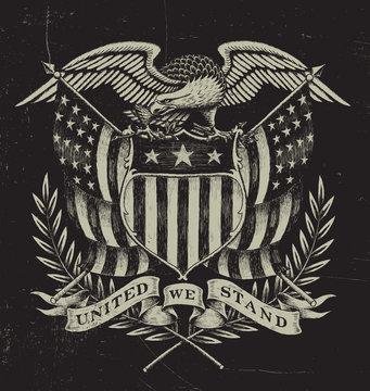 Hand Drawn American Eagle
