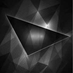 Black geometric background with copyspace