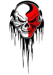 red white skull