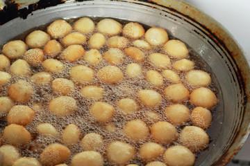 Sweet potato fries asia style on the pan