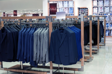 Menswear store with jackets
