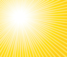 Summer sunburst background.