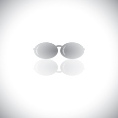 beautiful stylish sunglasses for woman - vector icon.