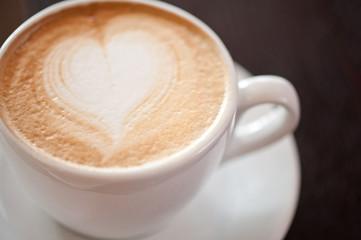 Coffee heart shape
