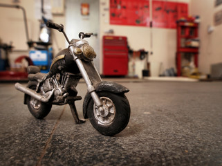 wooden retro motorcycle