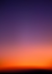 Sunrise - Red Sky And Violet Iris