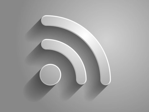3d Vector icon of wirelass icon