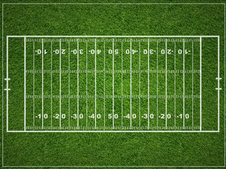 A vector grass textured American football field.