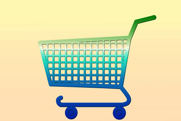 multi color shopping cart