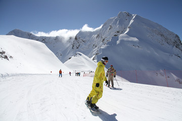 Snowboarder on the slope.