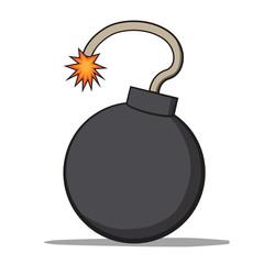 Cartoon bomb. Vector Illustration