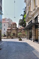 Ermou street and the Church of Panaghia Kapnikarea