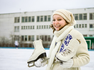 girl with figure skates
