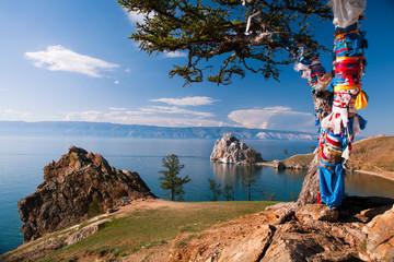 Landscape at the Baikal lake in Siberia