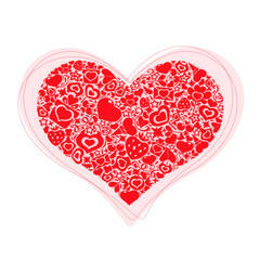 Valentites heart of objects Red
