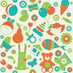 "Seamless pattern ""Childhood'"