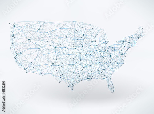 Abstract Telecommunication USA Map Stock Image And Royaltyfree - Free usa map vector