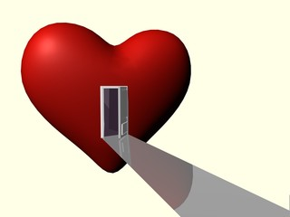heart with door open