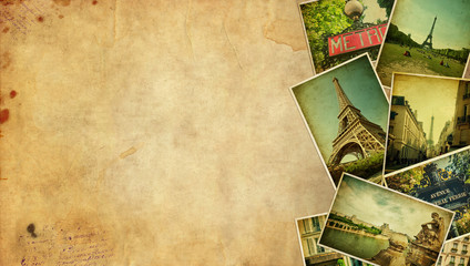 Vintage Paris background.  Space for text