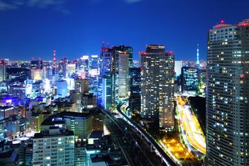 Türaufkleber Tokio Tokyo cityscape at night