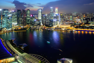 Singapore city from top
