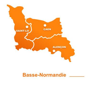 basse-normandie région départements et villes