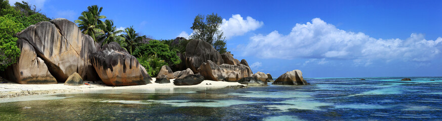 Wall Murals Panorama Photos panorama des seychelles