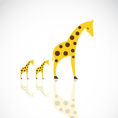 Vector image of an giraffe design