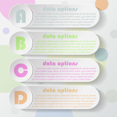 Modern vector infographic template design for your business pres