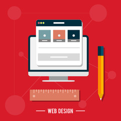 Icon for web design, seo, social media